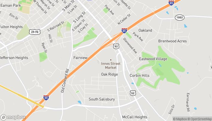 Mapa de 247 Faith Rd en Salisbury