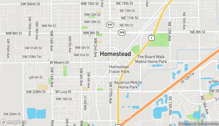 Mapa de 20 S Krome Ave en Homestead