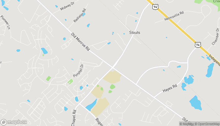 Map of 6701 Old Monroe Road in Indian Trail