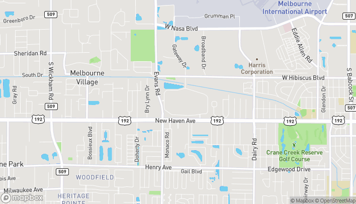 Map of 1700 West New Haven in Melbourne