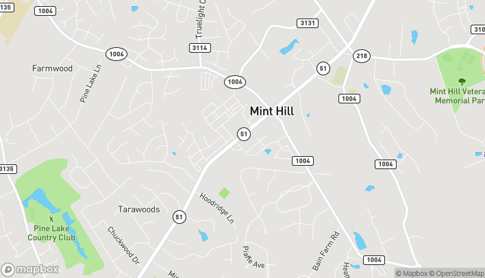 Map of 6820 Matthews Mint Hill Rd in Mint Hill