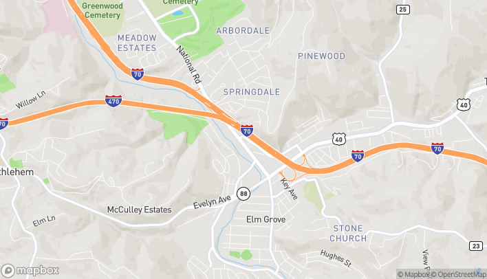 Mapa de 2109 National Road en Wheeling