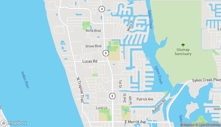 Map of 1070 N Courtenay Pkwy in Merritt Island