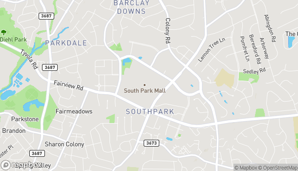 Map of 4400 Sharon Road in Charlotte
