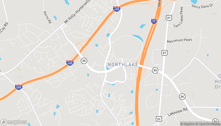 Map of 9330 Center Lake Dr in Charlotte
