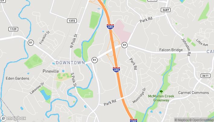 Mapa de 9433 Pineville Matthews Rd en Pineville