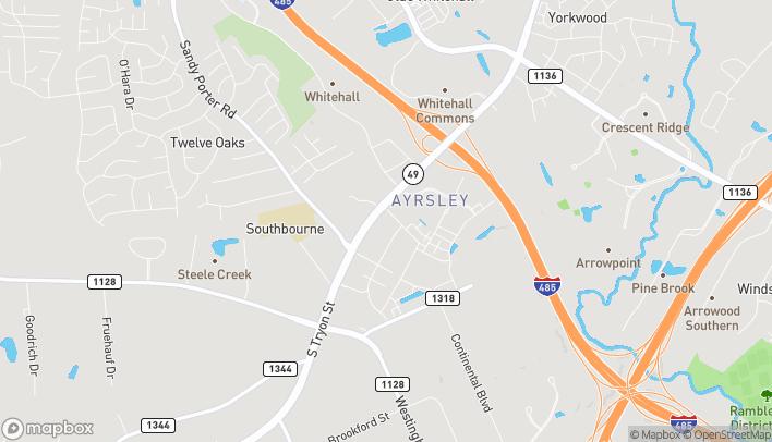 Mapa de 8943 S Tryon St en Charlotte