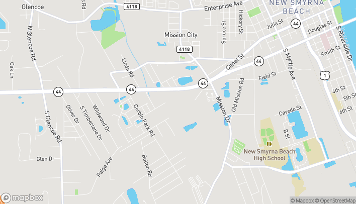Map of 1972 State Rd 44 in New Smyrna Beach