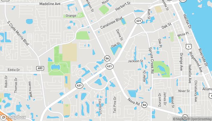 Map of 3800 S Nova Road in Port Orange