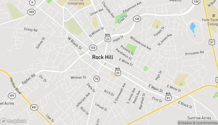 Map of 331 East Main St in Rock Hill