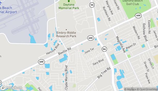 Map of 1195 Beville Road in Daytona Beach