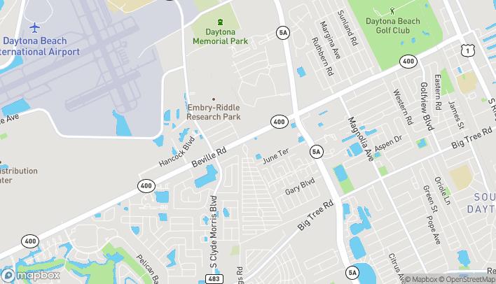 Mapa de 1195 Beville Road en Daytona Beach