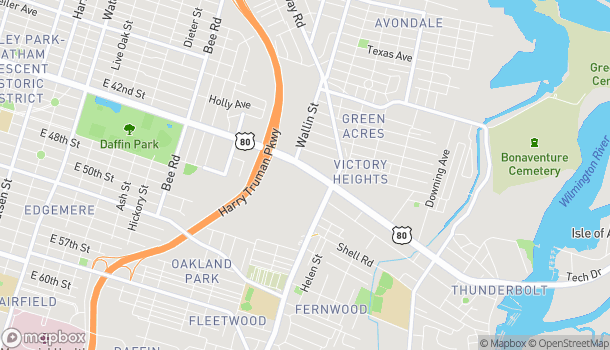Mapa de 1935 E Victory Dr en Savannah