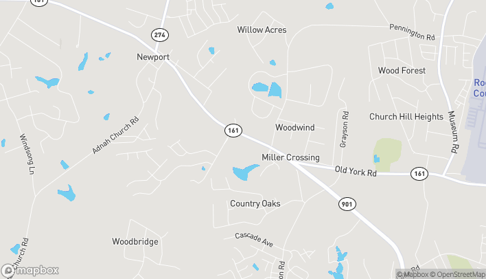 Map of 4891 Old York Road in Rock Hill
