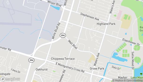 Mapa de 314 Mall Blvd en Savannah