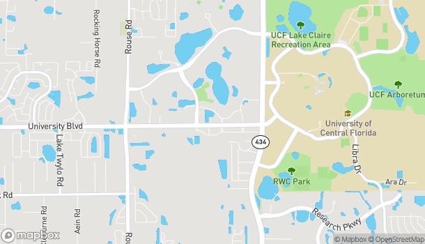 Mapa de 11891 University Blvd en Orlando