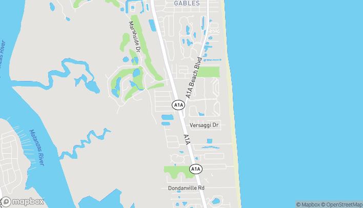 Mapa de 1099 A1A Beach Blvd en St. Augustine