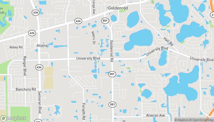 Map of 7460 University Blvd in Winter Park