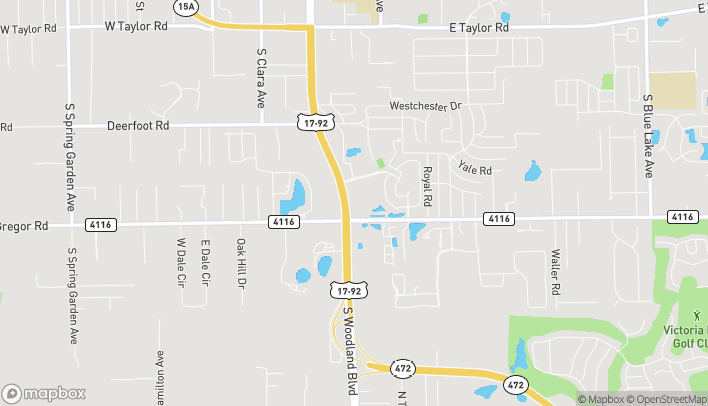 Map of 2421 S Woodland Blvd in Deland