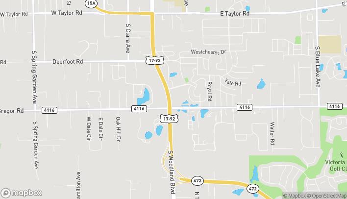 Mapa de 2421 S Woodland Blvd en Deland