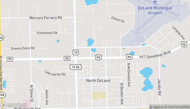 Mapa de 305 E International Speedway Blvd en Deland
