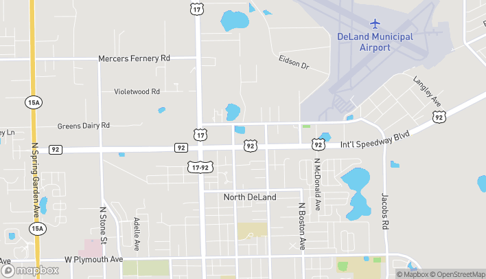 Map of 305 E International Speedway Blvd in Deland