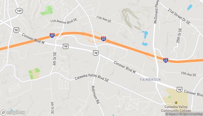 Mapa de 1528 US Highway 70 SE en Hickory