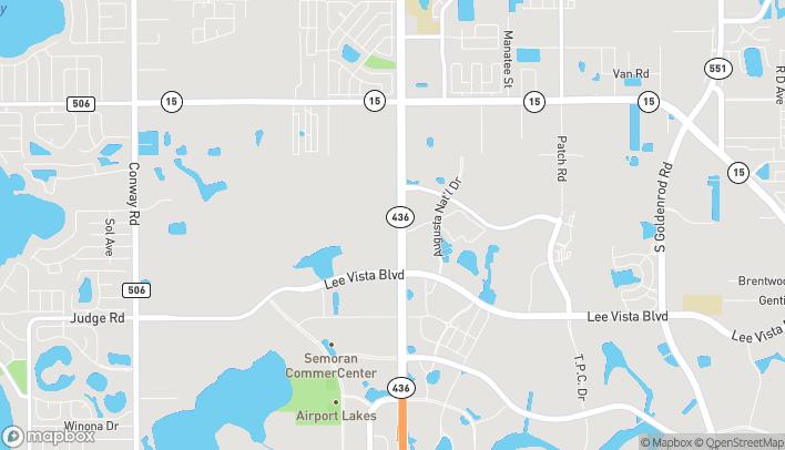 Map of 6324 S Semoran Blvd in Orlando