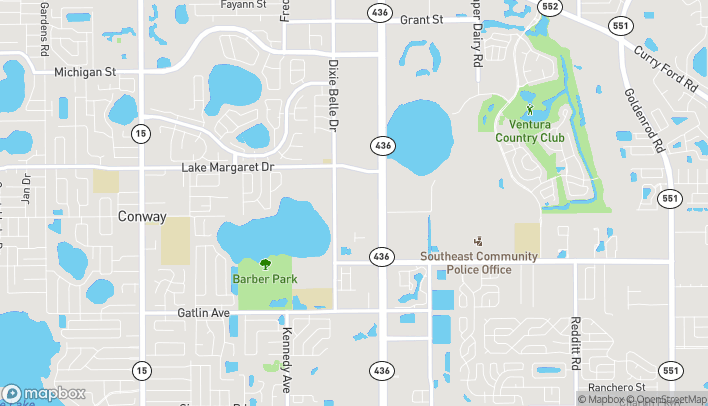 Map of 4000 S Semoran Blvd in Orlando