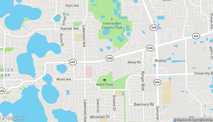 Map of 2246 Aloma Ave in Winter Park