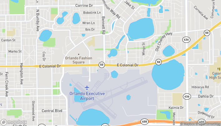 Map of 4313 E Colonial Dr in Orlando
