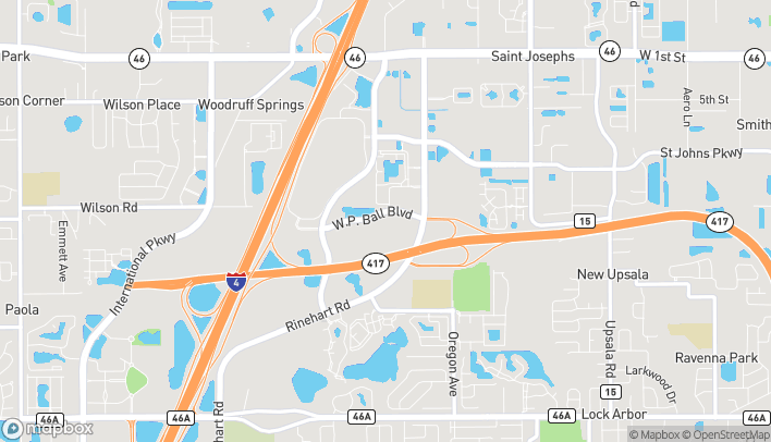 Map of 1657 Wp Ball Blvd in Sanford