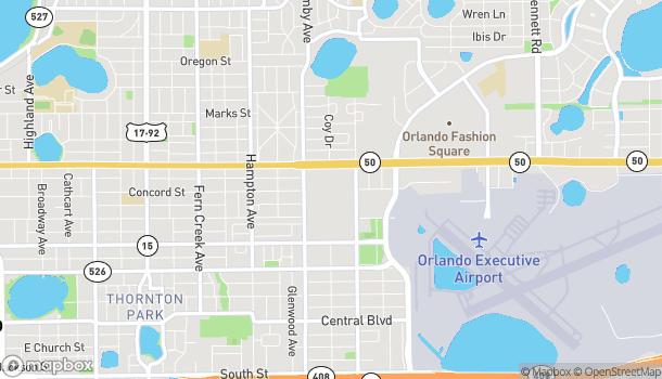 Mapa de 2608 E Colonial Drive en Orlando