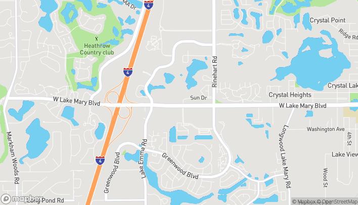 Mapa de 4300 W Lake Mary Blvd en Lake Mary