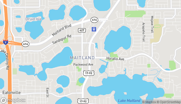Map of 254 N Orlando Ave in Maitland