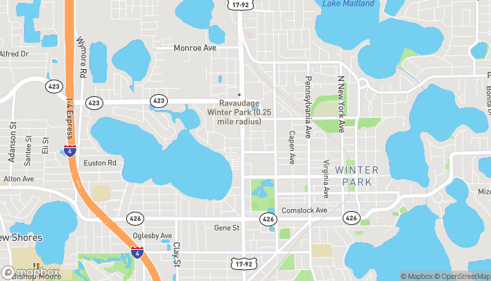 Map of 432 N Orlando Ave in Winter Park