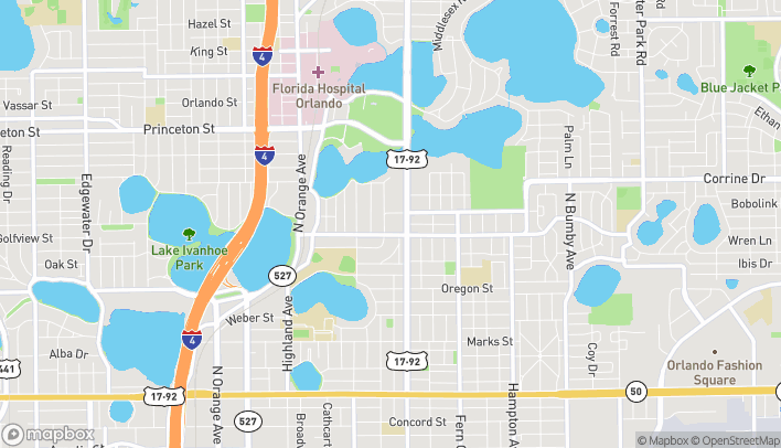 Map of 1486 Mills Ave in Orlando