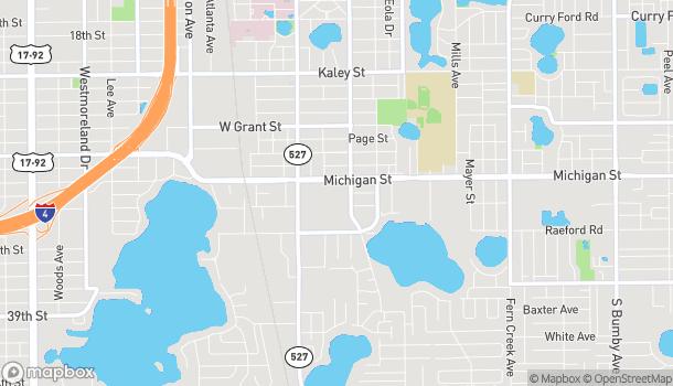 Map of 312 East Michigan Street in Orlando