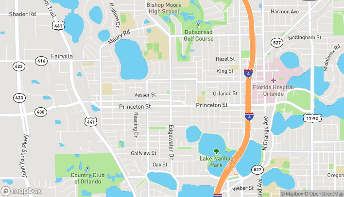 Map of 2305 Edgewater Dr in Orlando
