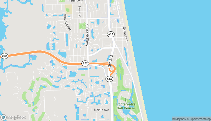 Map of 4194 3rd St S in Jacksonville Beach