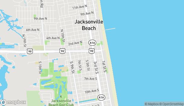 Map of 300 Beach Blvd in Jacksonville Beach