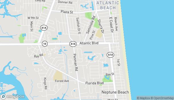 Mapa de 630-6 Atlantic Blvd en Neptune Beach