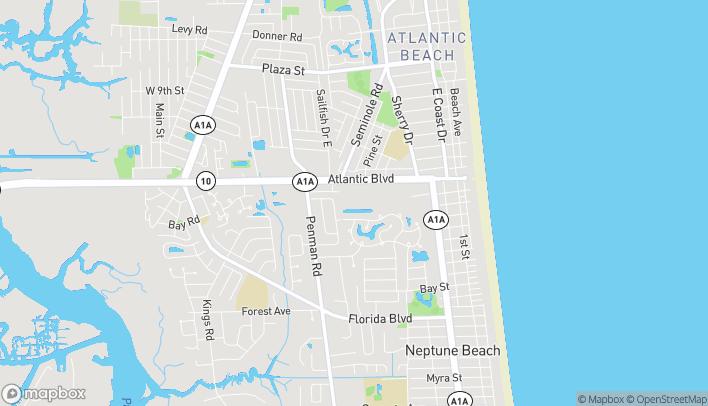 Map of 630-6 Atlantic Blvd in Neptune Beach