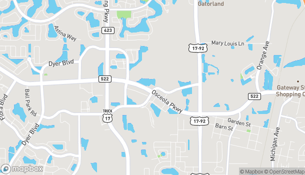 Map of 1001 W Osceola Parkway in Kissimmee