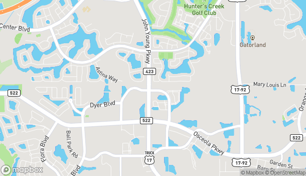 Map of 3297 Greenwald Way North in Kissimmee