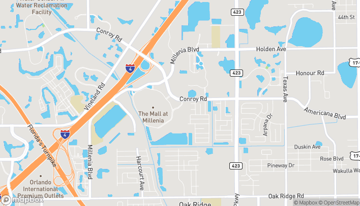 Map of 4006 Conroy Road in Orlando