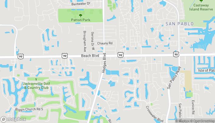 Mapa de 3267 Hodges Blvd en Jacksonville