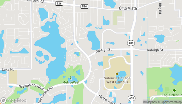 Mapa de 6421 Raleigh Street en Orlando