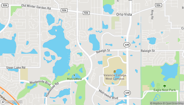 Map of 6421 Raleigh Street in Orlando