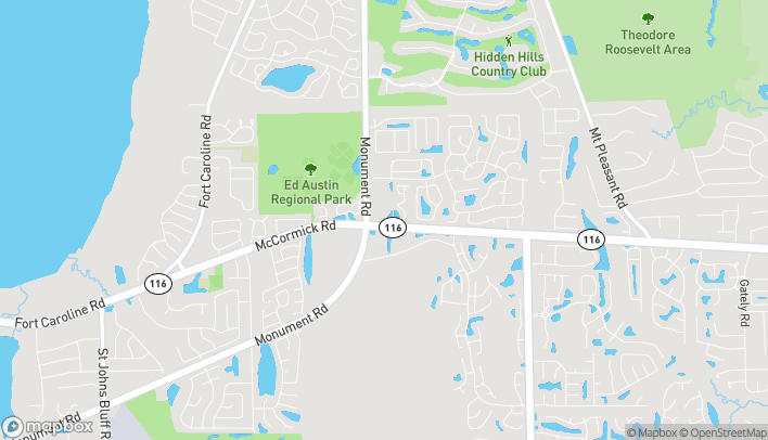 Map of 2771 Monument Road in Jacksonville